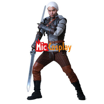 The Witcher 3: Wild Hunt Geralt of Rivia Cosplay Costume Men Outfit