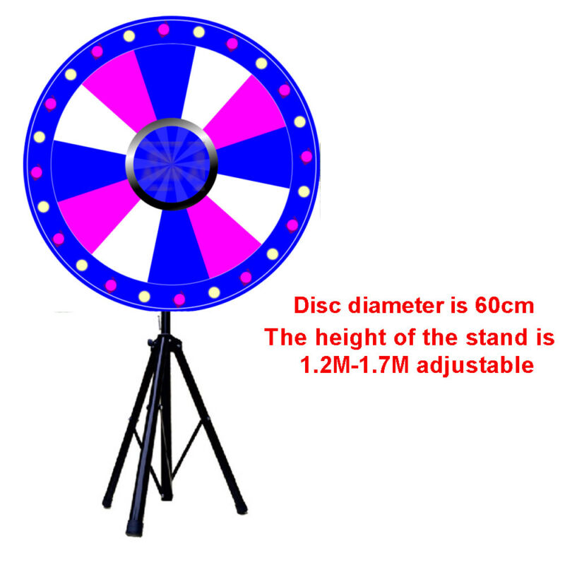 """24"""" Color Fortune Prize Wheel Folding Tripod Multiple customize color holiday US"""