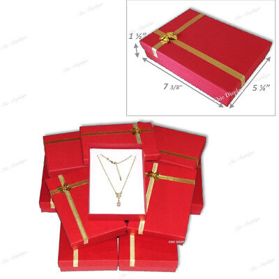 Lot Of 12 Wholesale Necklace Boxes Jewelry Gift Box Large Necklace Box 1.5h