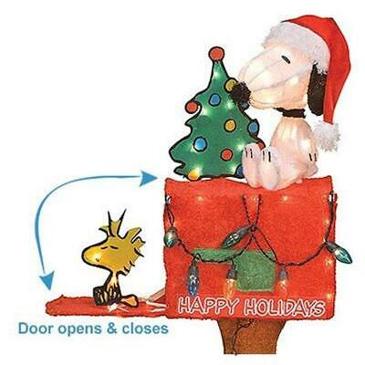 Product Works 70327 PEANUTS SNOOPY ON MAILBOX Pre-Lit CHRISTMAS Yard Art