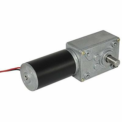 Small High Torque 12 Volt Reversible 35 Rpm Dc Worm Gear Motor For Bbq Drive