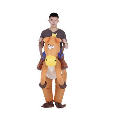 Lustiger Cowboyreiter Auf Pferd Aufblasbares KostüM-Outfit Für Erwachsene - Aufblasbare Outfits