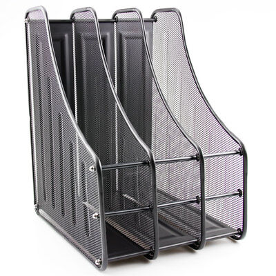 3 Tier Office Desk Document File Magazine Paper Organiser Holder Rack Stand Mesh