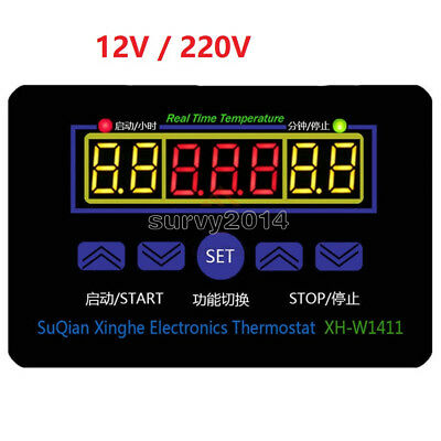 12220v Digital Thermostat Temperature Controller Meter Regulator Xh-w1411 Healt