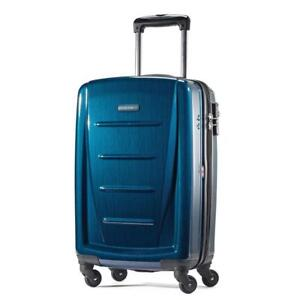 NEW Samsonite Winfield 2 Fashion 20-Inch Spinner Suitcase, Deep Blue, One Size Condtion: New, Deep Blue