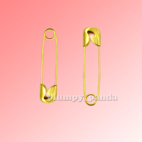 STEEL Carbone Color Tone Small Tiny Coiled Metal Safety Pins DIY Sewing Supplies