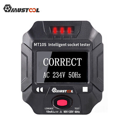 Mustool Us Socket Outlet Tester Circuit Polarity Voltage Frequency Rc