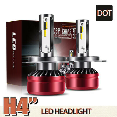 2x H4 HB2 9003 60W 12000LM LED Headlight Kit Hi/Lo Beam 6000K White Bulbs LXK for sale  Canada