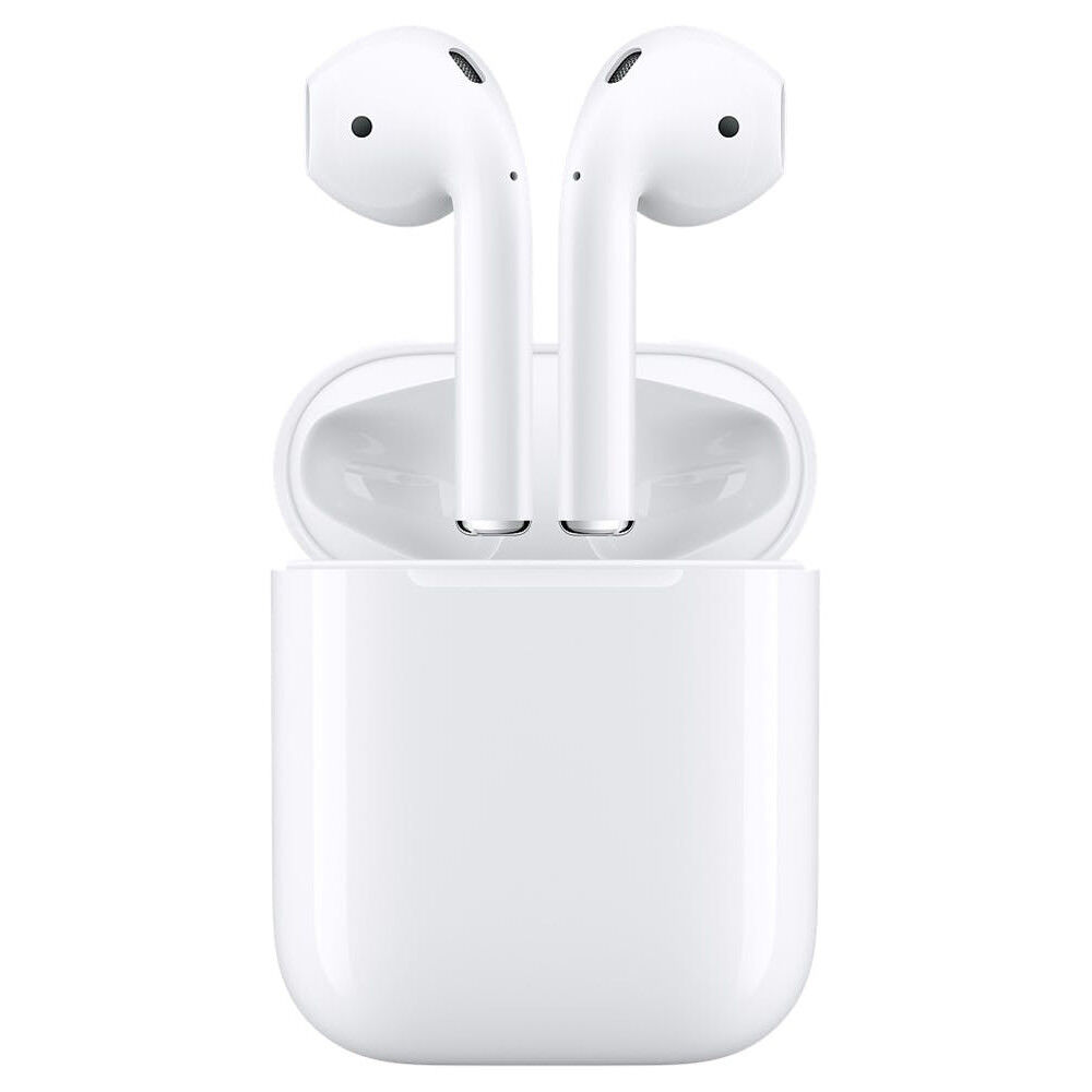 Apple AirPods White Genuine In-Ear Wireless Bluetooth Headsets W/Charging Case