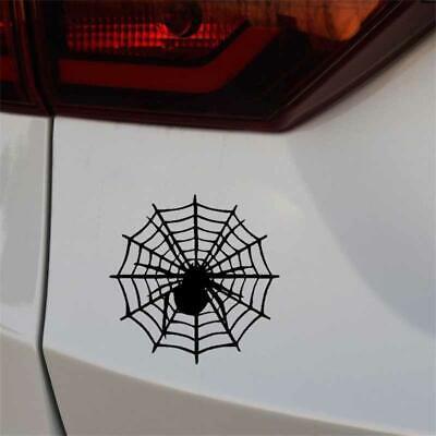 Spider On The Spider Net Design Fun Window Bumper Sticker Vinyl Decal 15CMx15CM Spider Net