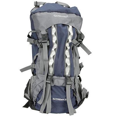 80L Professional Backpack Shoulders Bag Camping Hiking Blue#C4094