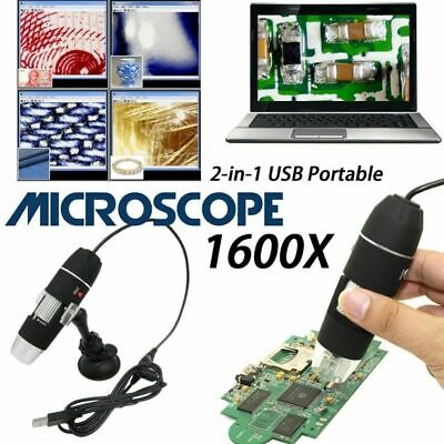 Usb Digital Microscope For Electronic Accessories Coin Inspection 1600x 8 Led