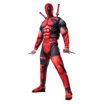 Mens Deluxe Deadpool Marvel Halloween Costume (Marvel Halloween Costumes Men)