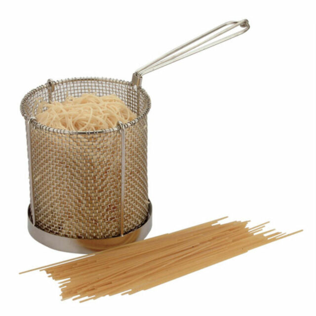 Spaghetti Basket Stainless Steel 15cm x 15cm | Pasta Scampi Frying Catering New