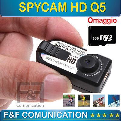 MINI VIDEOCAMERA DIGITALE HD SPY TELECAMERA SPORT SOFTAIR AUTO MOTO CASCO SPIA