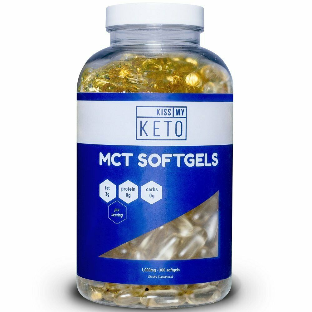 Kiss My Keto MCT Oil Capsules - Coconut Oil Softgel Pills, 3