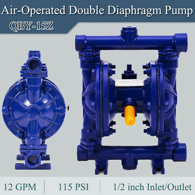 Air-operated Double Diaphragm Pump 12 Inch Inletoutlet 12 Gpm 115 Psi Qby-15z