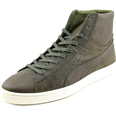 Puma States Mid MII Men  Round Toe Leather Green Sneakers
