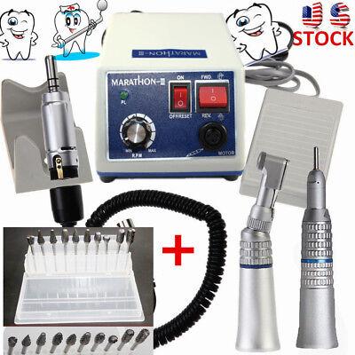 Dental Lab Marathon 35k Rpm Handpiece Electric Micro Motor10 Drills Burs N3 Us
