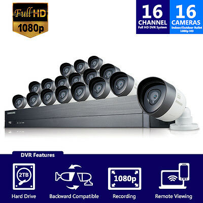 (Seller Refurbished) Samsung SDH-C75100-16 2TB 16CH Security System w/ 16 Camera