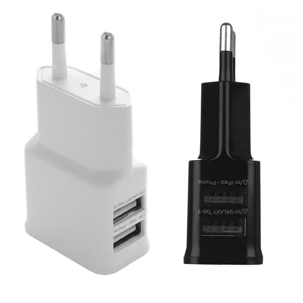 Ladegerät für Samsung mit 2x USB Port 2A Netzteil Netzstecker Adapter Handy Mini