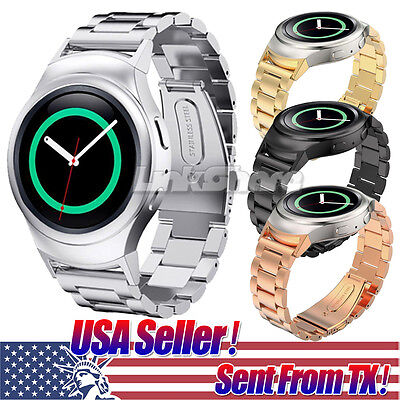 Stainless Steel Folding Clasp - Folding Clasp Solid Stainless Steel Watch band Strap For Samsung Gear S2 r720