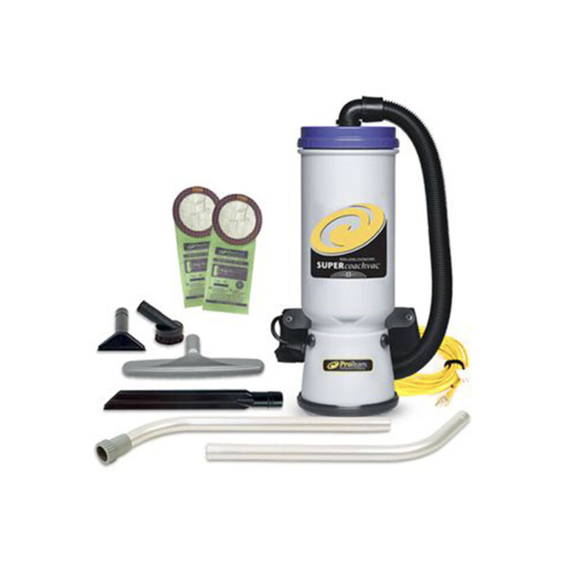 ProTeam QuarterVac 10 Quart Backpack Vacuum with 2 Piece Wand Tool Kit (Used)