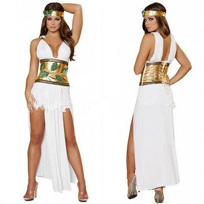Sexy Ägypter Königin Kleid Roma Grichischer Göttlich Göttin Damen Halloween