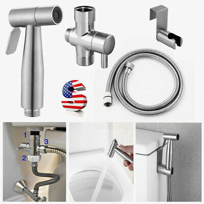 Premium Stainless Steel Bidet Spray Shattaf Toilet Brass T-A
