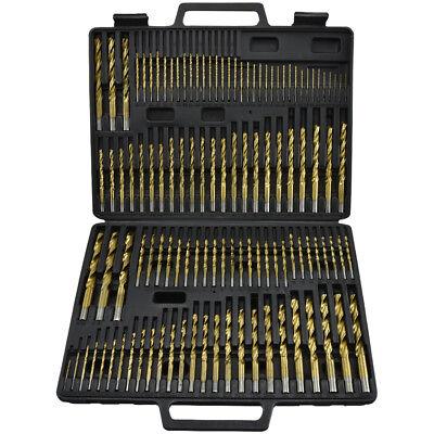 115pc Titanium Drill Bit Set Steel & Wood Carpenter Masonry