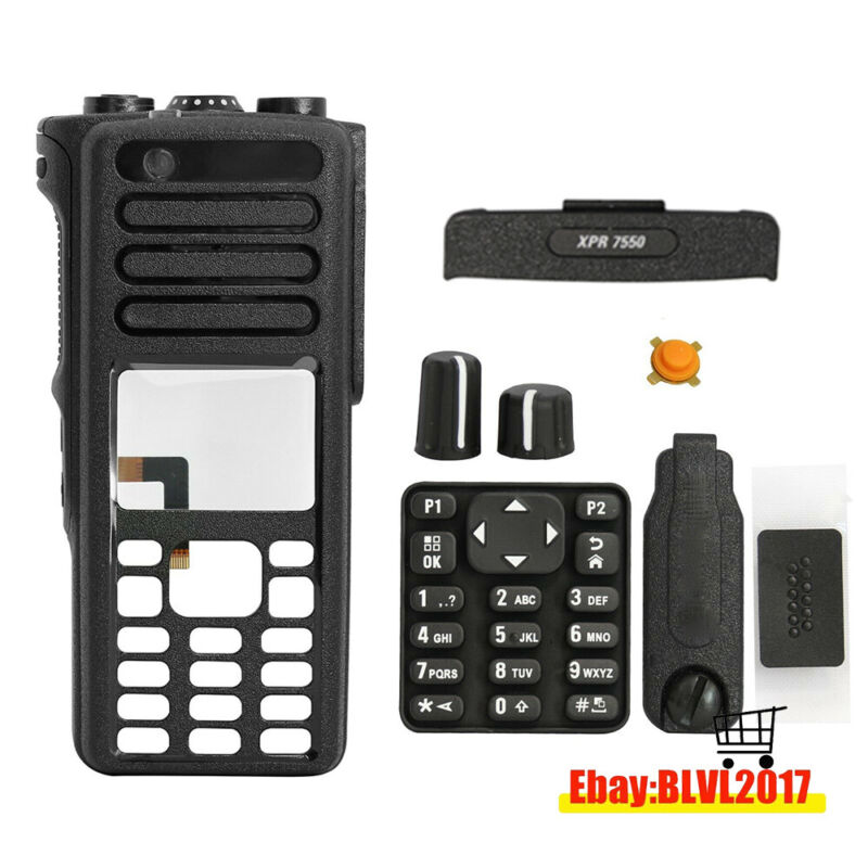 Black Replacement Housing Case Cover Kit For MOTOROLA XPR7550 DGP8550 Radio