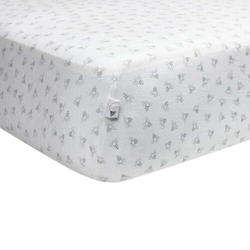 Burt's Bees Baby - Fitted Crib Sheet, Girls & Unisex 100% Or