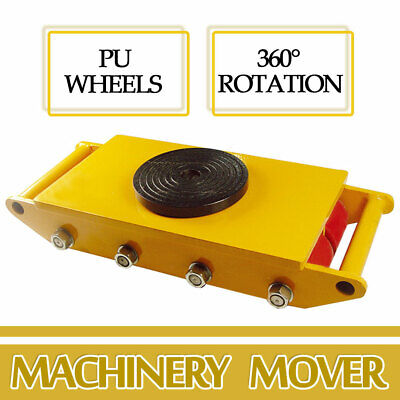 Heavy Duty Machine Dolly Skate Machinery Roller Mover Cargo Trolley 12t 26400lb