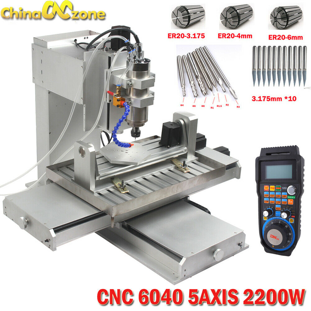 6040 5axis CNC 2.2KW Router Engraving USB Port Machine Metal