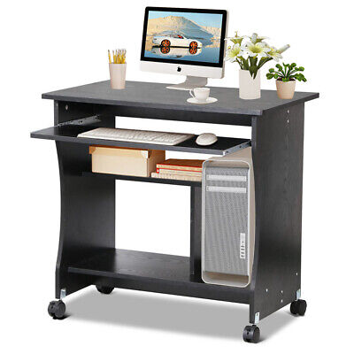 Computer Desk PC Table Keyboard Shelf Study Workstation Home Office Furniture UK