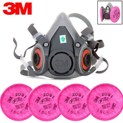 3m 6200 Spray Paint Dust Mask Respirator Facepiece 4pc 3m 2091 P100 Filters