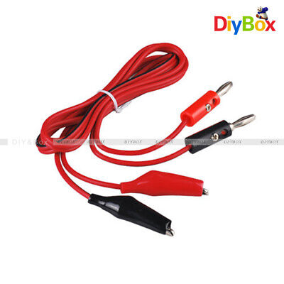 12510 Sets Alligator Test Lead Clip To Banana Plug Probe Cable 1m Red Black