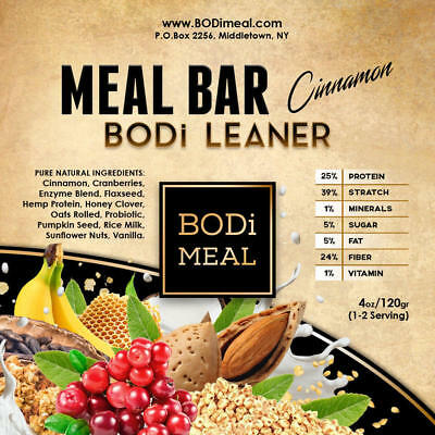 BODi LEANER MEAL BAR - Complete Nutritional (1 to 5 Servings)