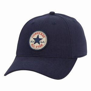 83df1542352 CONVERSE MENS BASEBALL CAP.NAVY BLUE ADJUSTABLE SNAPBACK CURVED PEAK HAT  CON301