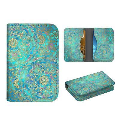 Business Card Holder Case Credit Cards Id Card Wallet Organizer - Shades Of Blue