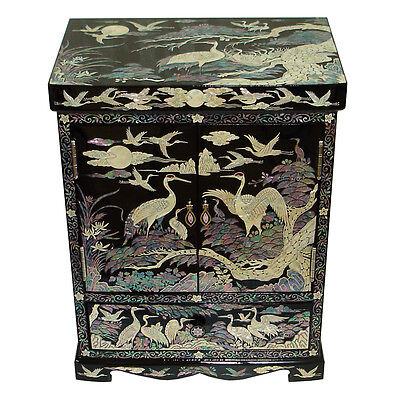 Coffre Nacre Placard Tiroir Luxe Asiatique Noir Porte Collier PAYSAGE COREE 2