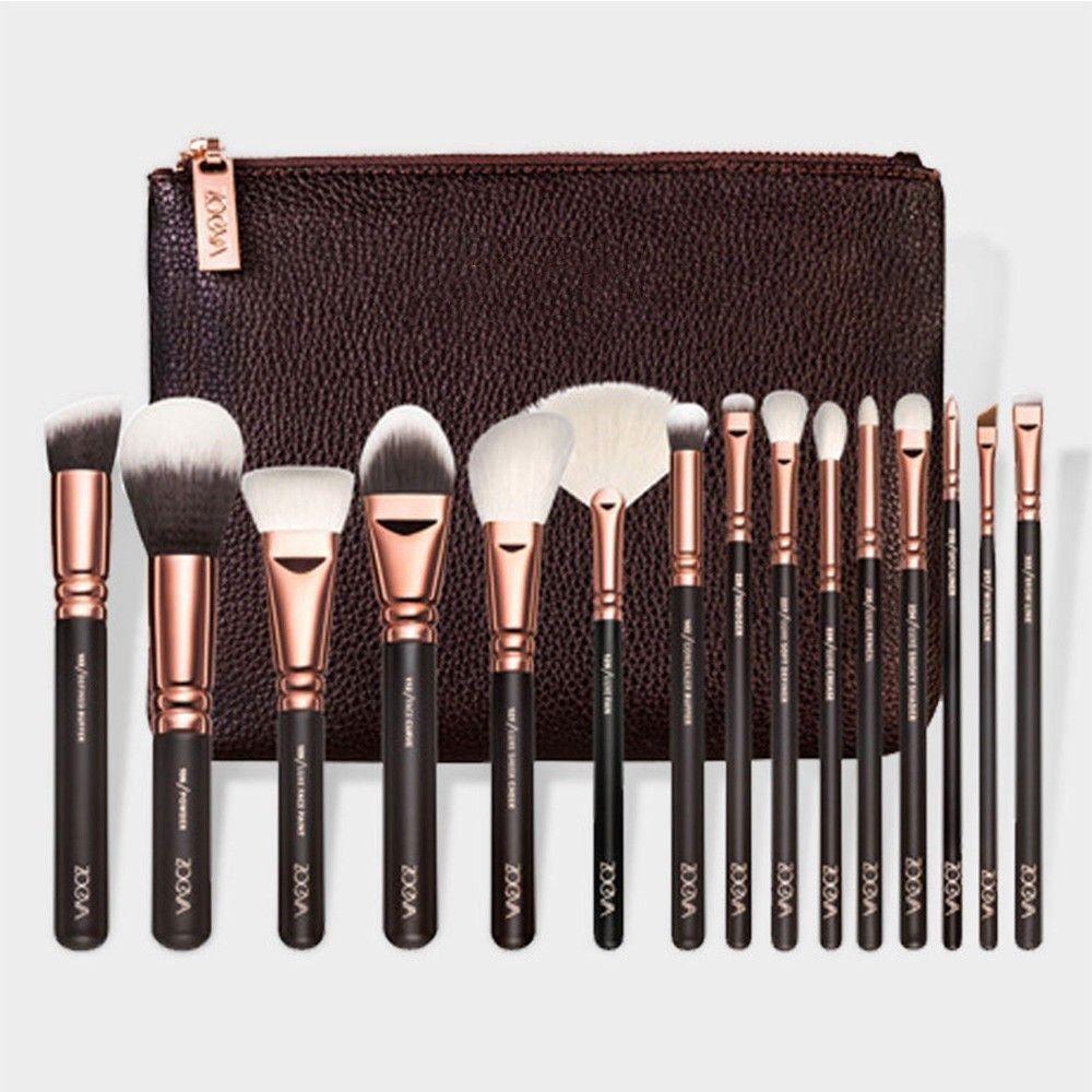 15 Make-up Pinsel Make-up Pinsel Set Schönheit Werkzeuge Powder Brown Black Rose