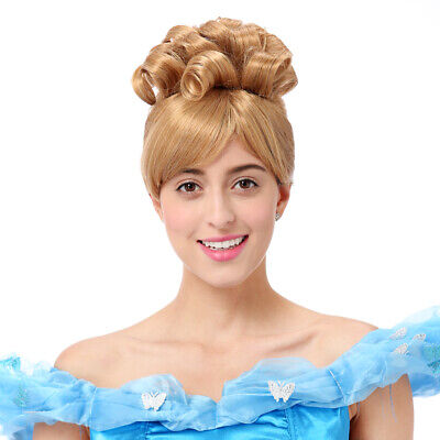 Cinderella Wig Women Princess Cosplay Costume Halloween Party Short Curly Hair - Halloween Costumes Curly Hair