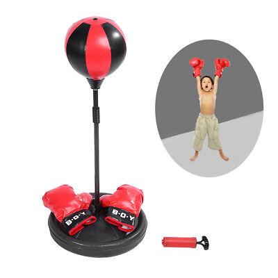 Verstellbar Kinder Boxsack Punching Ball Set + Boxhandschuhe + Luftpumpe HH -01