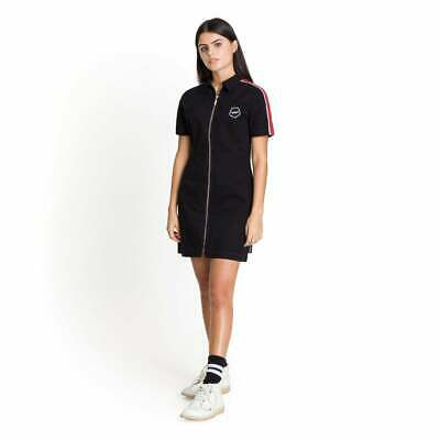 Womens Kickers Zip Front Black/Burg Shirt Dress (KA1) £44.99