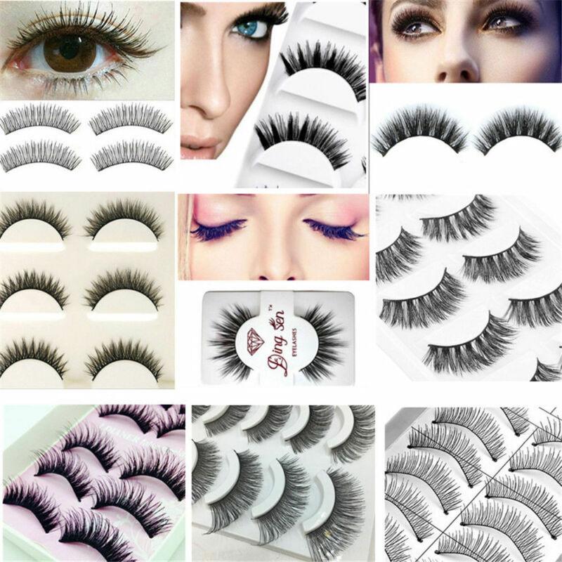 Makeup Handmade Natural 3D Thick False Eyelashes Long Eye La