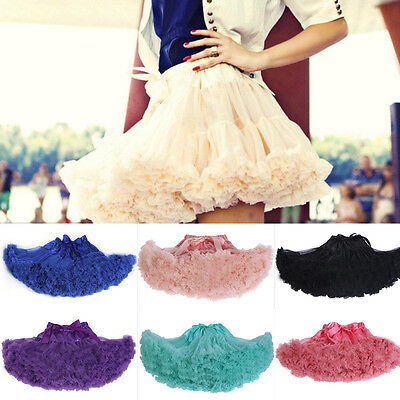 Fashion Women Girl Bubble A Line Tutu Mini Gauze Ballet Bouffant Skirt Pleated