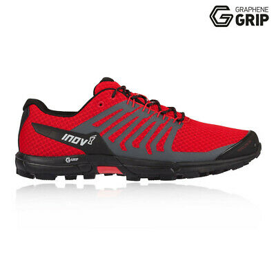 Inov8 Mens Roclite 290 Trail Running Shoes Trainers Sneakers Black Red Sports