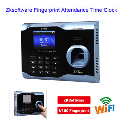 Ups Ship Zksoftware U160 Biometric Wifi Fingerprint Employee Time Attendance