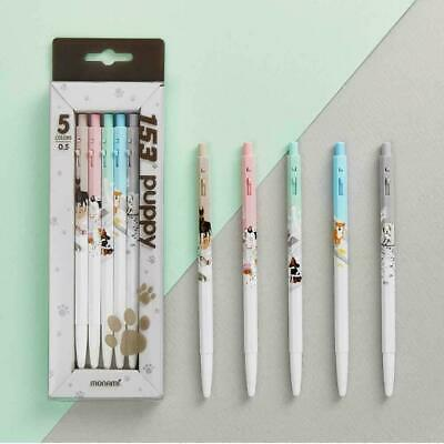 Monami 153 Puppy Ballpoint pens 0.5mm 5 Body colors Ink 5 colors